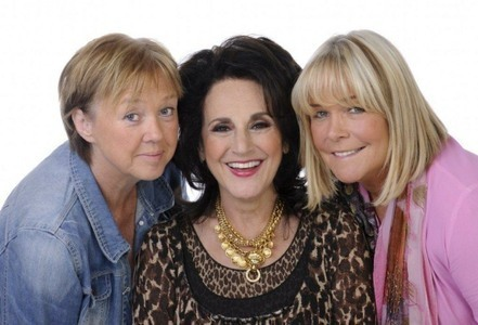 Pauline Quirke (Sharon), Lesley Joseph (Dorien) and Linda Robson (Tracey) in Birds of a Feather.