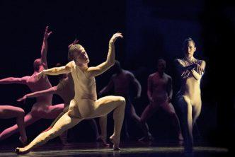 Dancers Scott Fowler, Kirsten Wicklund and Artists of Ballet BC in Bill. Credit Chris Randle