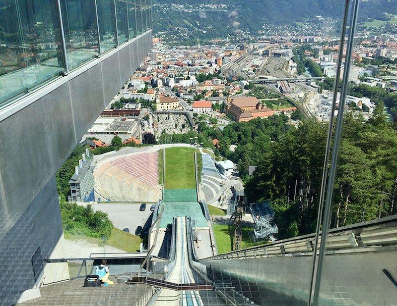 The demanding Bergisel jump