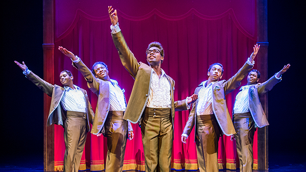 MOTOWN THE MUSICAL. The Temptations. Photo Tristram Kenton