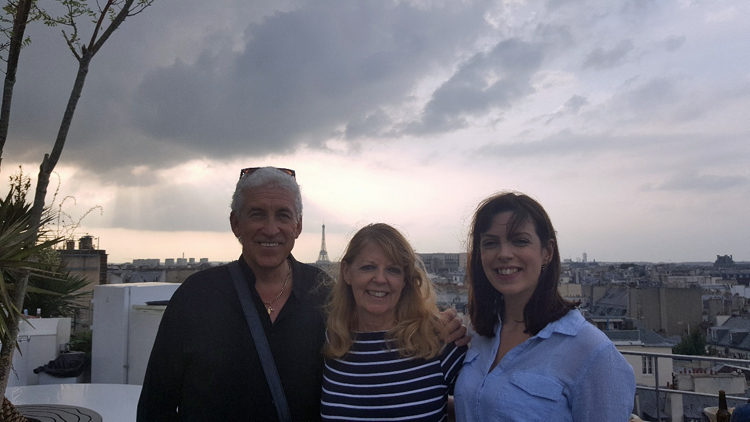 Bob, Lorraine and Hayley in Paris