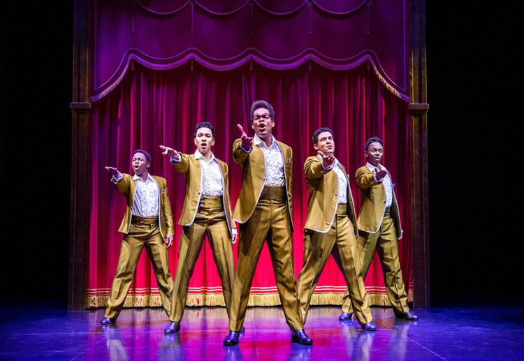Motown The Musical West End Cast - The Temptations - credit Tristram Kenton