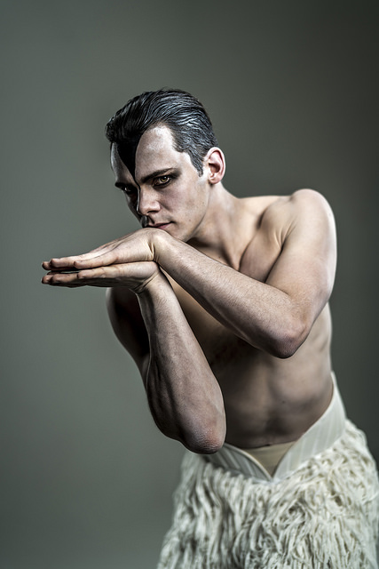 MATTHEW BOURNE'S SWAN LAKE. Will Bozier as 'The Swan'. Photo Johan Persson