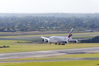 Emirates A380 landing