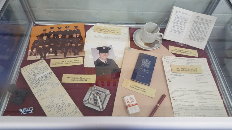 Some of the memorabila Ernie has donated to the Greater Manchester Police Museum