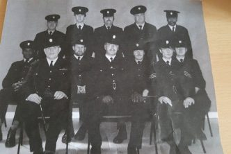 Smithfield Market Police Force. Ernie Thompson is front centre.
