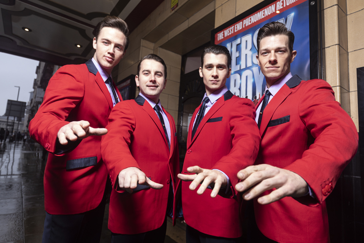 The Jersey Boys LR Declan Egan, Michael Watson, Peter Nash and Lewis Griffiths. Credit: Phil Tragen
