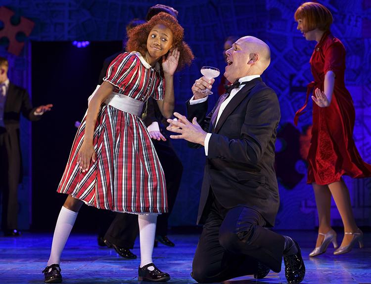 Faye Katsande 'Annie' and Alex Bourne 'Oliver Warbucks'. Photo Paul Coltas