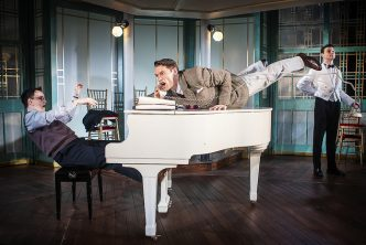 [L-R] Rob Ostlere (Adam), John Partridge (Turai), Charlie Stemp (Dvornichek) - Rough Crossing - UK Tour - Pamela Raith Photography