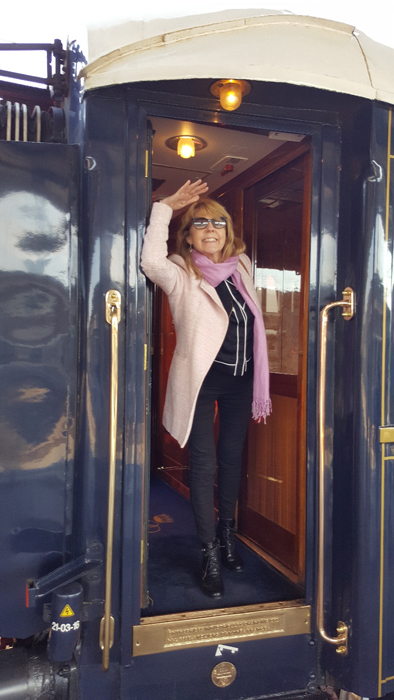 Lorraine boarding the Orient Express