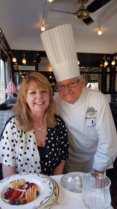 Lorraine with Executive Chef Christian Bodiguel