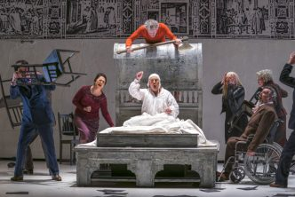A scene from The Rite Of Spring and Gianni Schicchi, the double bill by Opera North © Tristram Kenton