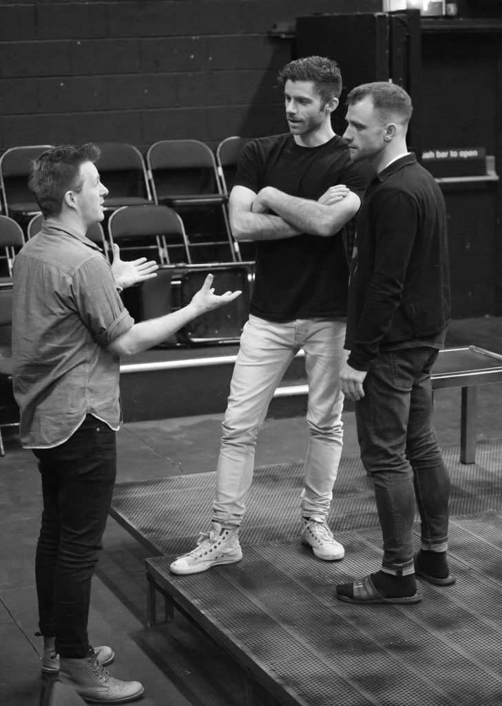 Ciarán Griffiths and Christian Edward  in rehearsals with Ben Occipinti