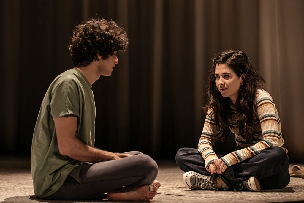 EQUUS. Ethan Kai (Alan Strang) and Norah Lopez Holden (Jill Mason). Image The Other Richard
