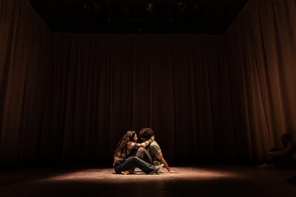 EQUUS. Norah Lopez Holden (Jill Mason) and Ethan Kai (Alan Strang). Image The Other Richard