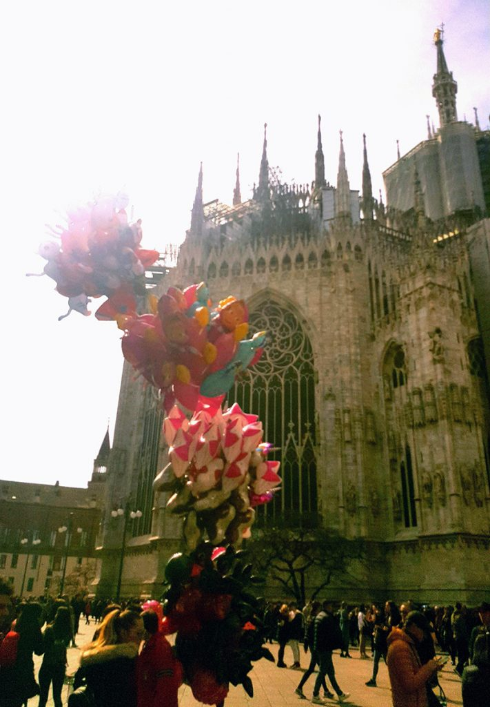 Balloons outside Duomo