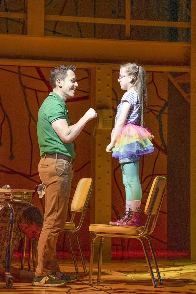 Little Miss Sunshine - Gabriel Vick as Richard, Evie Gibson as Olive (c) Richard H Smith
