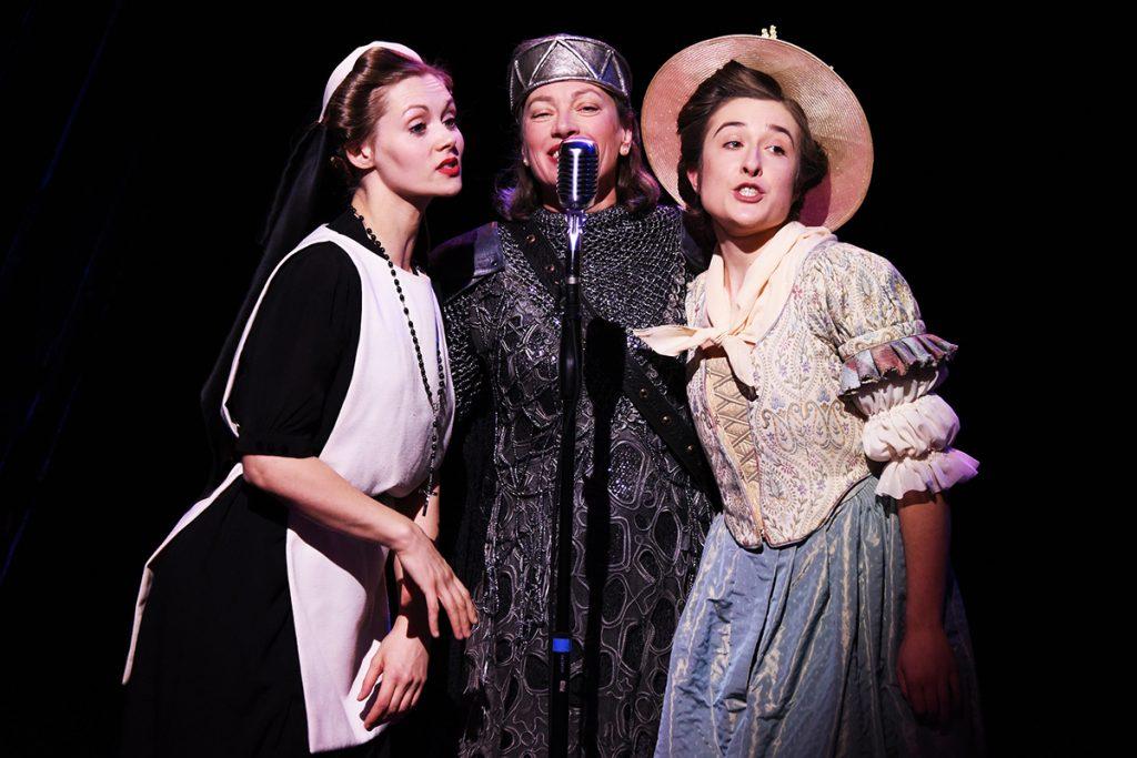 Sophia Hatfield, Isobel Middleton and Rachel Hammond in Much Ado About Nothing ©NOBBY CLARK