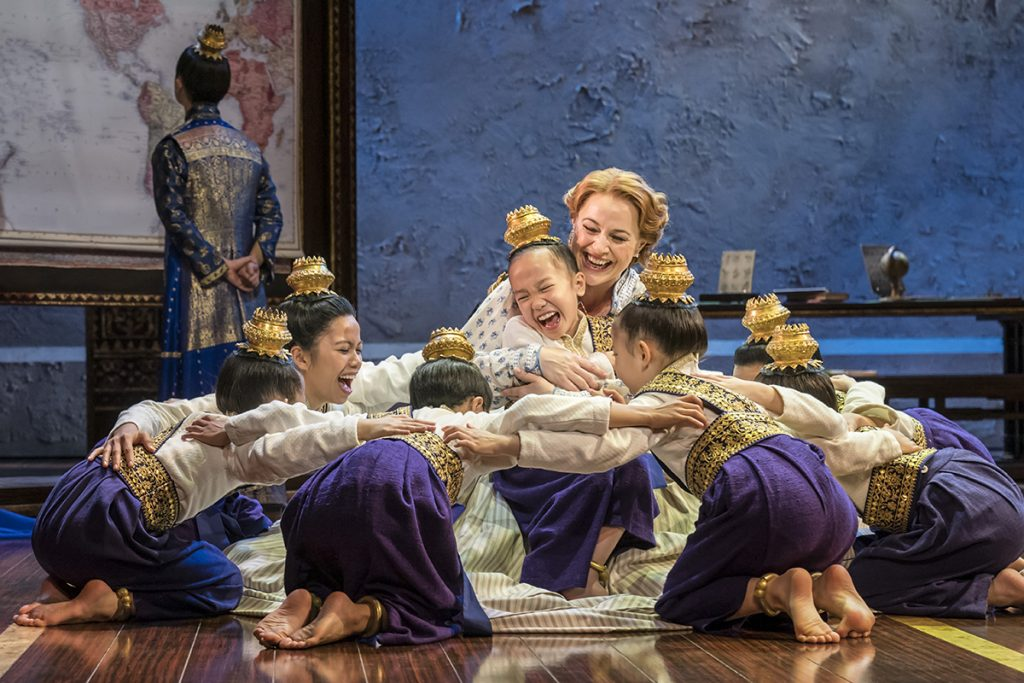 The King And I Tour Annalene Beechey (Anna) with Royal Children CREDIT JOHAN PERSSON