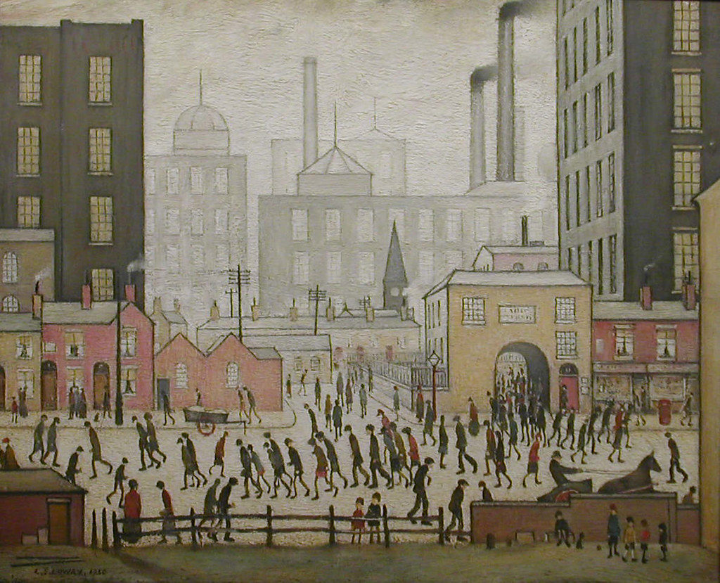 Coming from the Mill Copyright: The Lowry Collection, Salford
