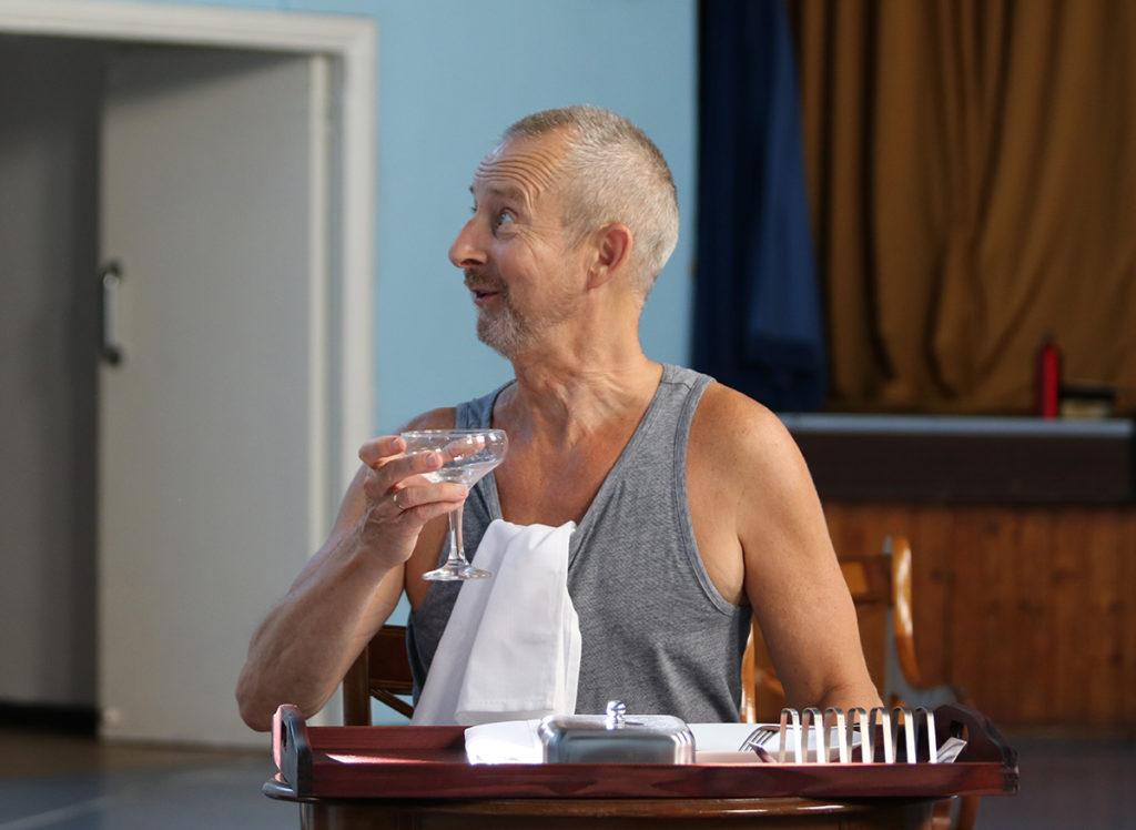No Man's Land Rehearsal - Nicholas Gasson as Spooner
