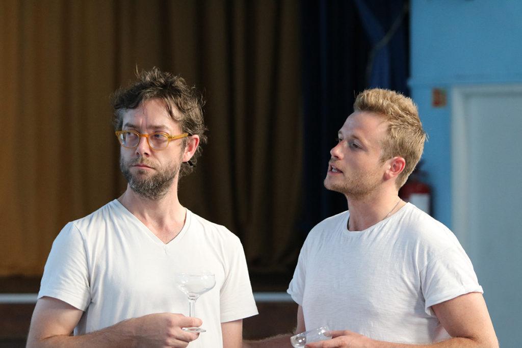 No Man's Land Rehearsal - Graham O'Mara as Briggs, Joel Macey as Foster