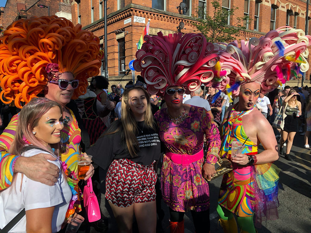 Group of colourful drag queens