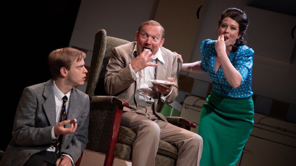 Giles Cooper, Blair Plant, Samantha Hopkins in Toast - photo credit Piers Foley
