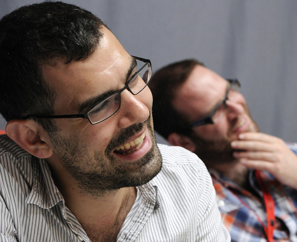 Playwright Daniel Kanaber and director Adam Quayle