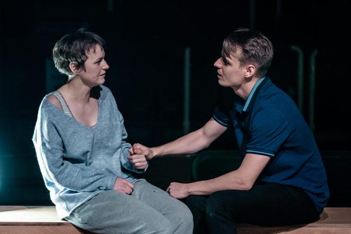 LIGHT FALLS - L-R Katie West (Ashe) & Freddie Gaminara (Joe) - Image Manuel Harlan