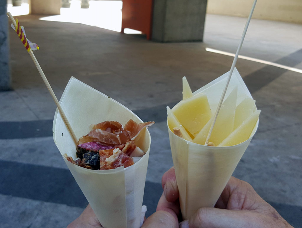 Food cones at Santa Caterina Market