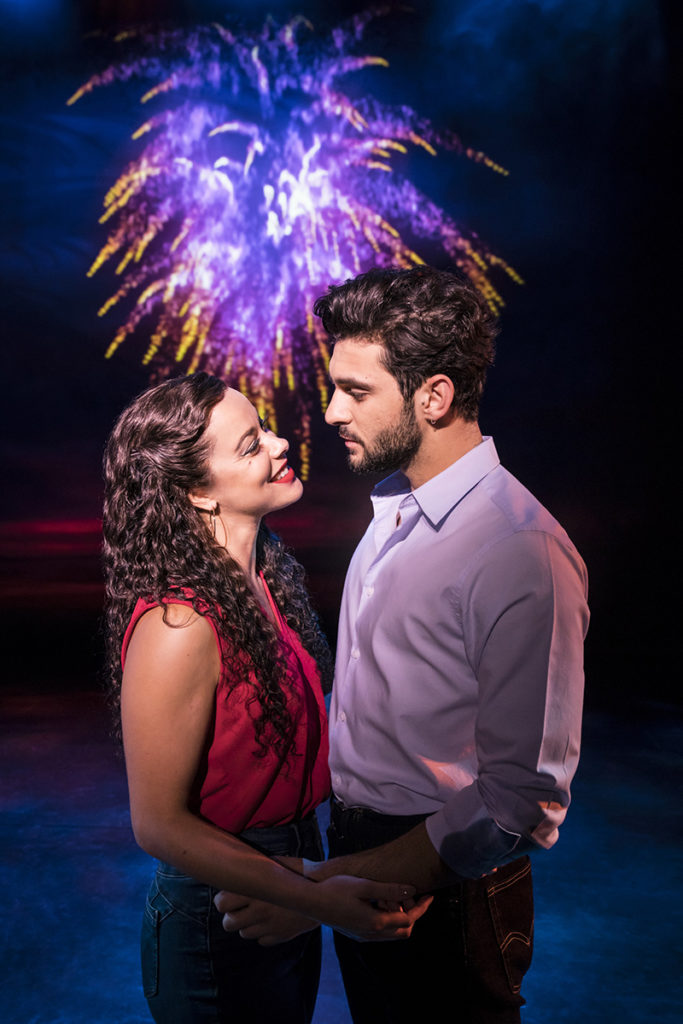 ON YOUR FEET. Philippa Stefani 'Gloria Estefan' and George Ioannadis 'Emilio Estefan'. Photo Johan Persson