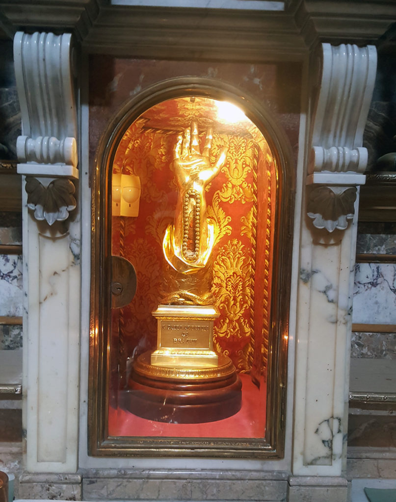 Relic from St Paul's wrist bone