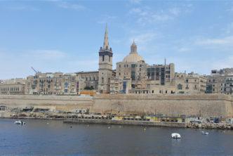 View of Valletta, Malta from Sliema Ferry