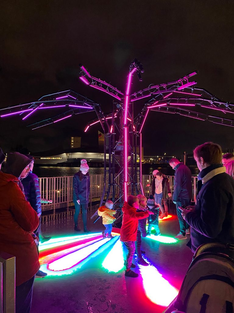 Lightwaves 2019 DigiTree, a state of the art, interactive LED installation