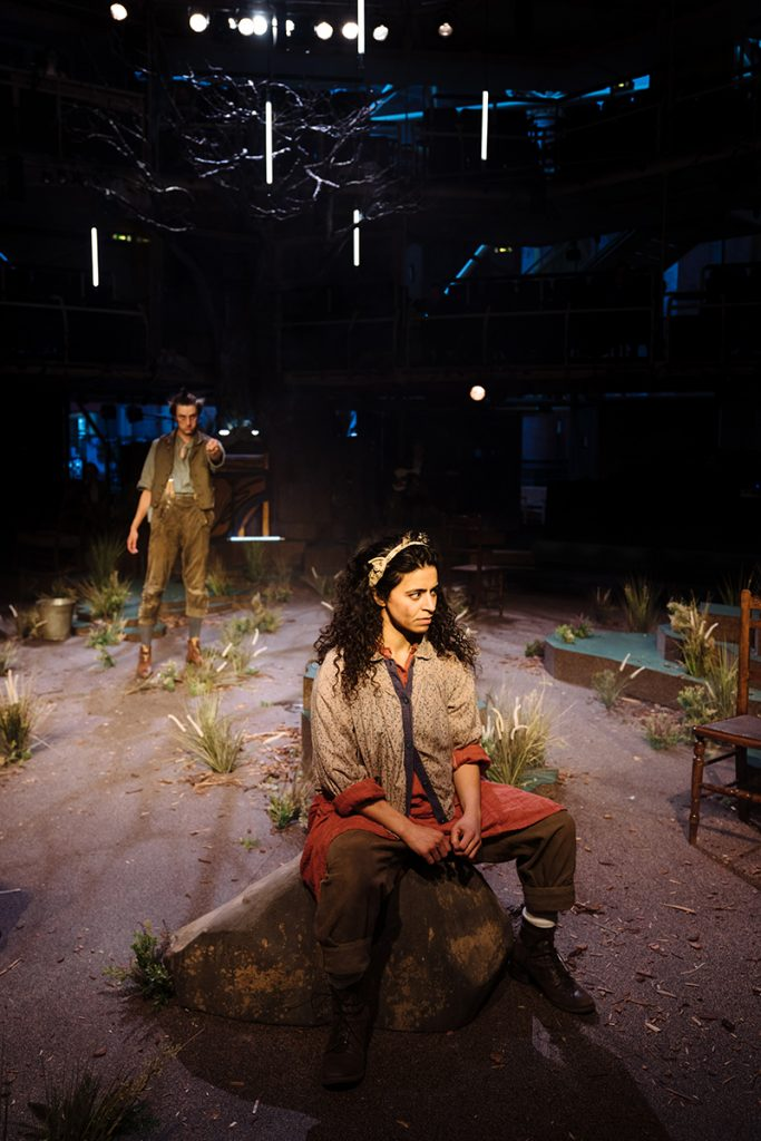 Wuthering Heights - L-R Alex Austin (Heathcliff) & Rakhee Sharma (Cathy) - image Helen Murray