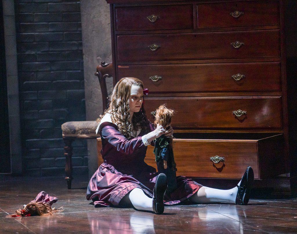 Opera North's production of Britten's The Turn of the Screw Jennifer Clark as Flora Photo credit: Tristram Kenton
