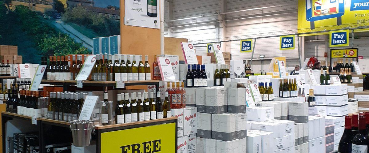 A wine emporium in Boulogne-sur-Mer