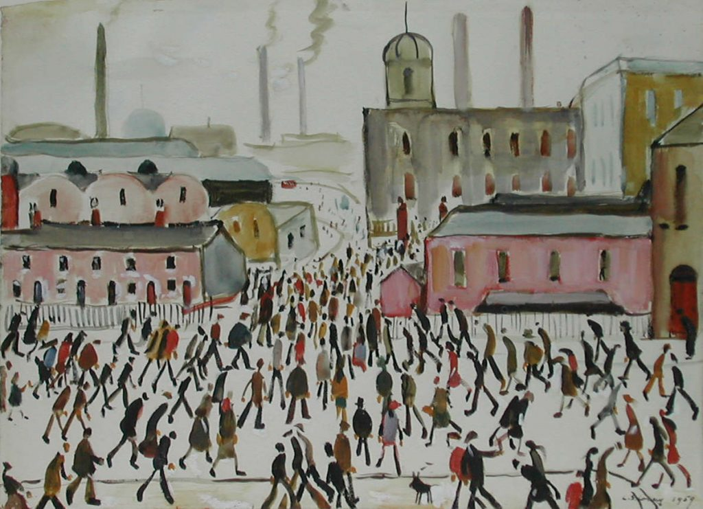 L.S. Lowry Going to Work © The Lowry Collection, Salford
