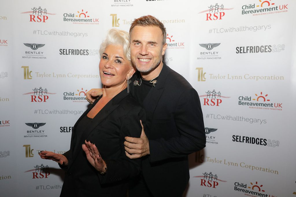 Party planner Liz Taylor with Gary Barlow