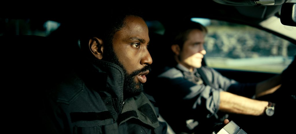 """(L-r) JOHN DAVID WASHINGTON and ROBERT PATTINSON in Warner Bros. Pictures' action epic """"TENET,"""" a Warner Bros. Pictures release."""