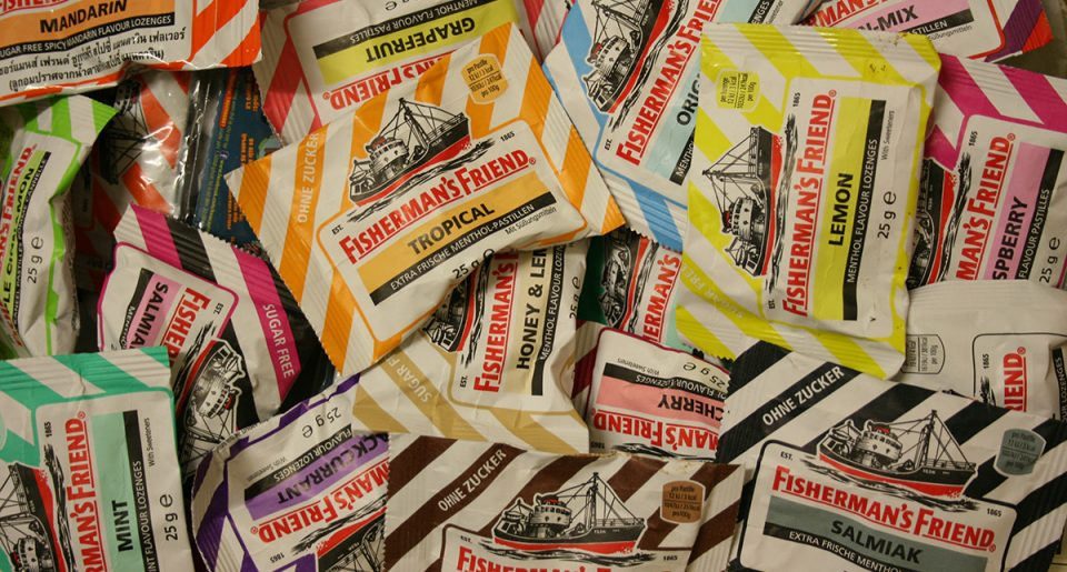 Packets of Fisherman's Friends