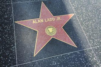 Alan Ladd's star on Hollywood walk of fame