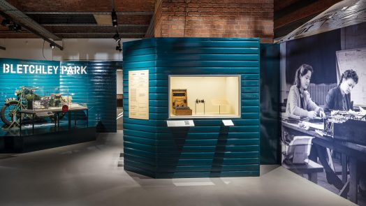 """Gallery view of """"Top Secret: From Ciphers to Cyber Security"""" at the Science and Industry museum"""