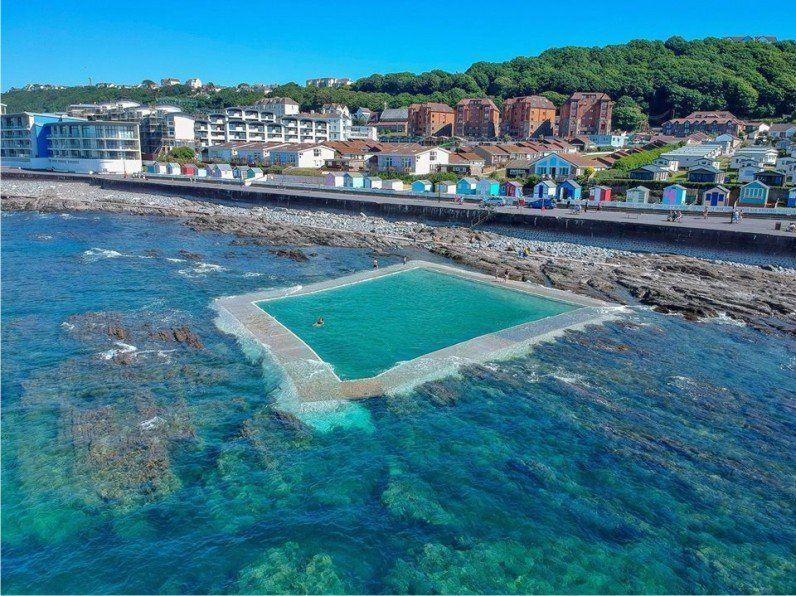 Westward Ho! sea and pool
