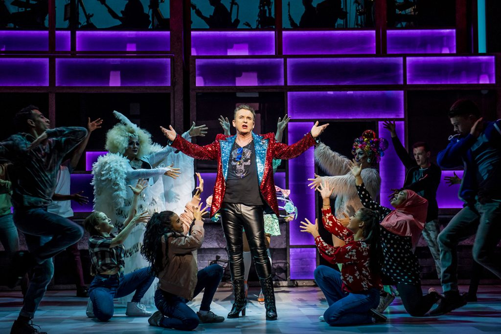 Shane Richie (Hugo) and the company of the Everybody's Talking About Jamie Tour. Photo credit Matt Crockett