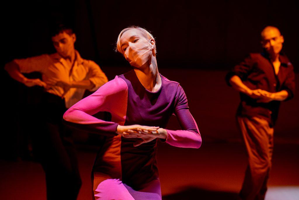 Rambert dancer Simone Damberg Wurtz in Wim Vandekeybus's Draw from Within photo by Camilla Greenwell