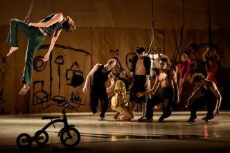 Rambert dancers in Wim Vandekeybus' Draw From Within © Camilla Greenwell