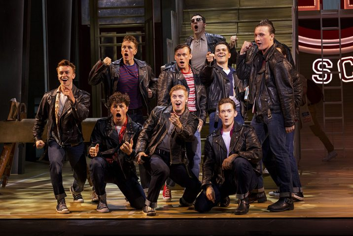 The Burger Palace Boys in Grease, credit Sean Ebsworth Barnes