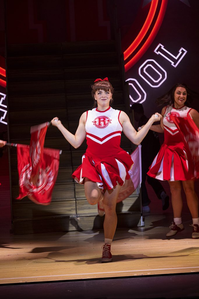 Thea Bunting as Patty Simcox in Grease, credit Sean Ebsworth Barnes